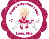 Valentine stickers Valentines stickers Valentine's Day Stickers --  Valentine FREE 4x6 CELLO BAGS