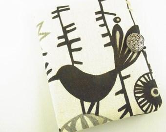 Tea Bag Wallet Black Bird Retro Duck Canvas