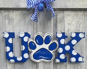 Kentucky Door hanger, Kentucky man cave sign, UK door hanger, Wildcat door hanger, UK fan sign, Wildcat fan door hanger