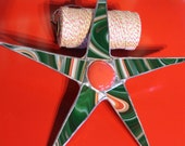 50's Christmas Swirl- 9 inch stained glass star
