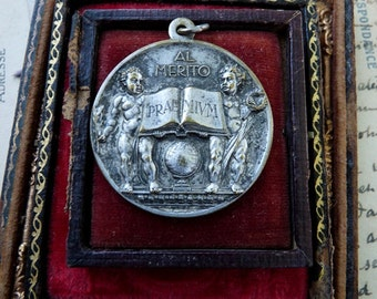 Antique Merit Medal,  For the Deserving Woman, offered by RusticGypsyCreations