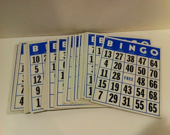 Set of 42 Vintage Large Bingo Cards