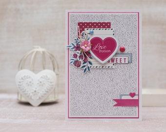 "Handmade greeting card ""Love potion"""