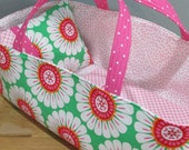 Doll Carrier, Will Fit Bitty Baby and Stella Dolls , Daisy, Pink Lining