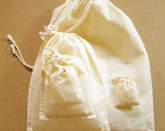 Cotton slim jewelry pouch -10set