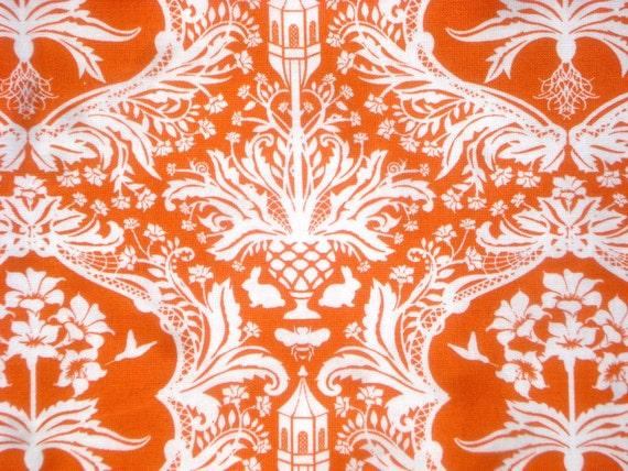 Super Sale : Garden Damask orange Flora Lauren & Jessi Jung moda fabrics FQ or more