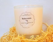 Mediterranean Fig Scented Vegan Soy Wax Jar Candle