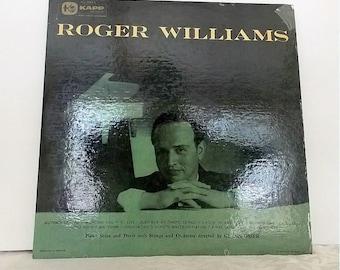 Roger Williams, Kapp Records KL-1012 Released 1956, Vintage Vinyl Record,  Jazz Music, Music Memorabilia
