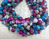 38 pcs faceted round agate beads in 10mm