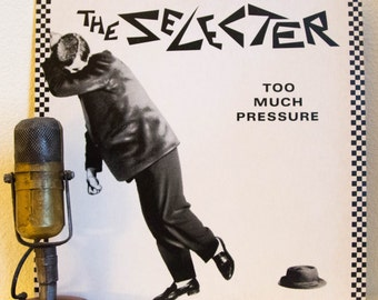 "ON SALE The Selecter Vinyl Record Debut Album LP 1980s Ska Reggae Dance Alternative Hipster College Radio ""Too Much Pressure"" (1980 Chrysali"
