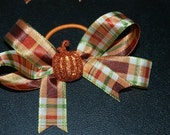 Plaid Fall Hair bows