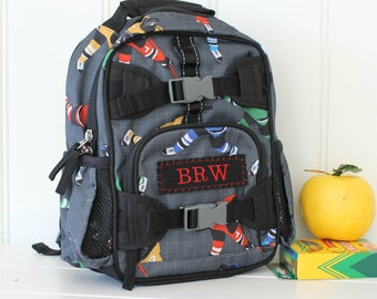 Mini Baby Backpack Pottery Barn (Mini Size) -- Gray Hockey