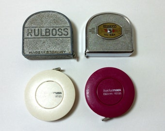 Vintage Lot of Mini Tape Measures Stanley Rulboss Haechstmass Instant Collection