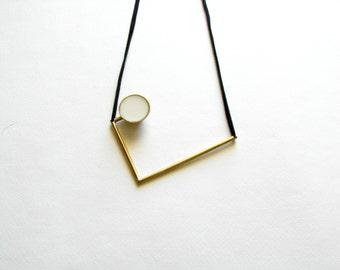 Gold Geometric Necklace-Gold Bib Necklace-Greek Modern Necklace-Greek Inspired-Modern Gold Necklace-Contemporary Jewellery-Modern Jewellery