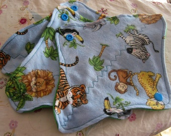 3 Cloth Panty Liners-Jungle Animals