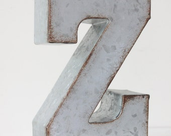 Large Metal Letter Z Large Metal Sign Z  Etsy