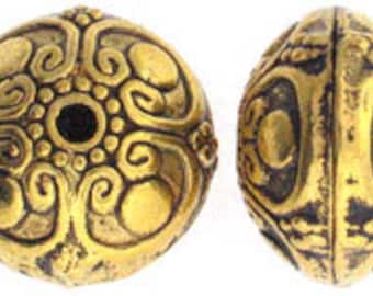 Gold Pewter Bead 13x16mm