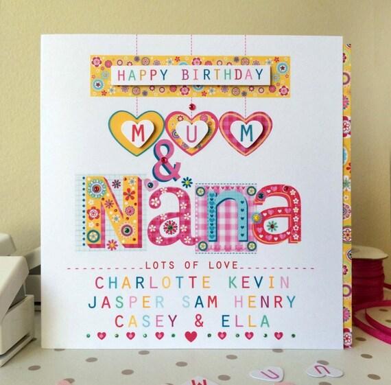 Mum & Nana Birthday Card
