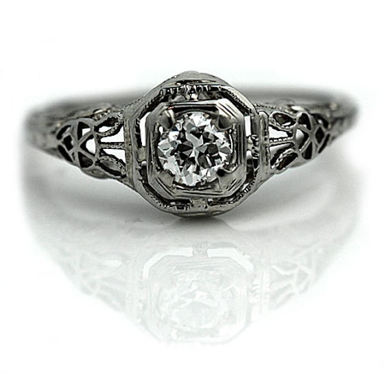 antique engagement ring deco promise ring 30ctw