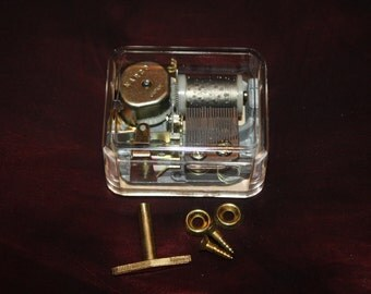 Vintage NARCO Music Box Movements for Do It Yourself Projects; New Old Stock, Never Used, All Parts Included