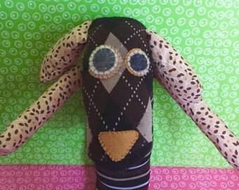 OOAK pongo handmade recycled stuffed animal puppy dog