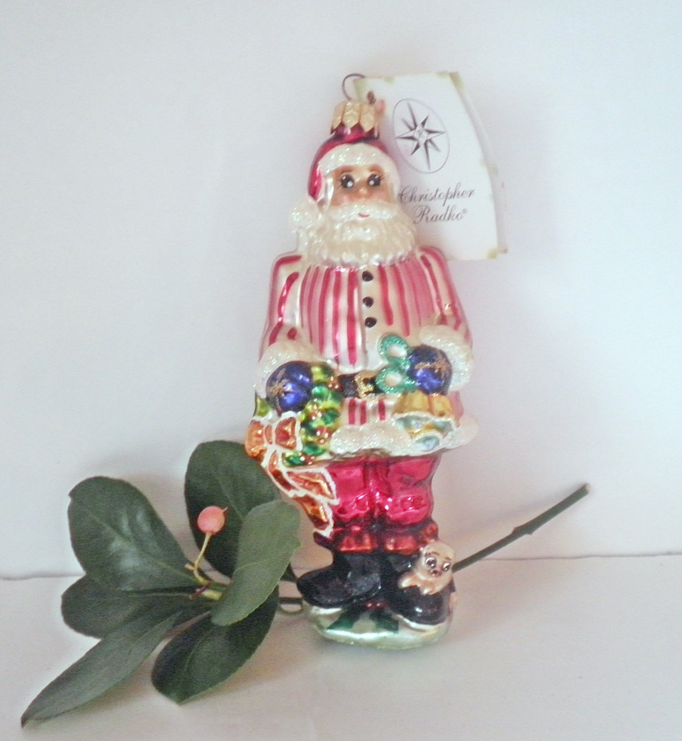 Vintage Radko Santa Christmas Ornament Ring In The by ...