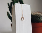 Cat chain earring - rose gold plated and sterling silver-free shipping