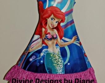 Ariel Dress size 7 or 8  Ready to Ship Little Mermaid