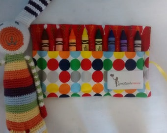 Modern Toddler Crayon Roll with Washable Crayola Crayons
