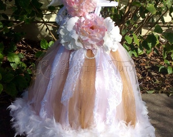 Couture feather dress, flower girl dress, girls dress, feather dress, toddler dress, feather tutu dress, tutu dress, photo prop, dress prop