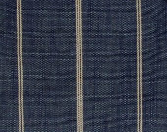 RUSTIC WOVEN indigo blue, cream Stripes multipurpose fabric