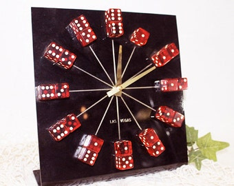 Las Vegas Dice Clock, Vintage Clock