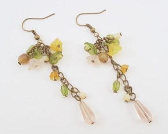 Wildflowers - Czech Glass Flower Beaded Earrings