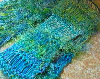 Clearance Varigated  Yarn Long Scarf