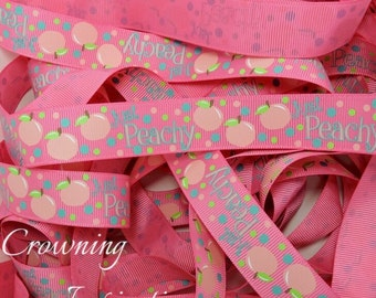 7/8 Fruity Just Peachy Pink US Designer Ribbon