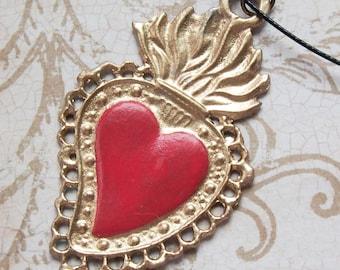 Sacred Heart Milagro Necklace