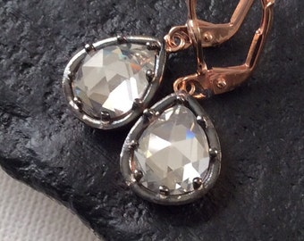 WINDSOR EARRING antique diamond inspired zirconia gold