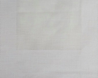 Custom Curtains Valance Roman Shade Shower Curtains in White Linen Fabric