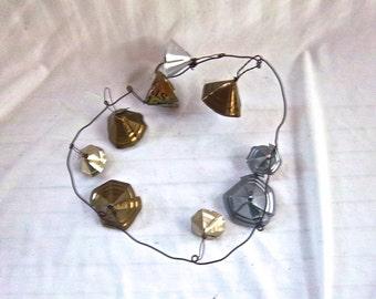 Handmade Rustic Primitive Tin Can Garden Critter Bells Noise Maker Repurposed Garden Decor