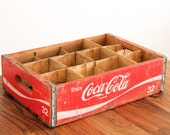 SALE! Vintage Coca Cola Crate | Red Wood