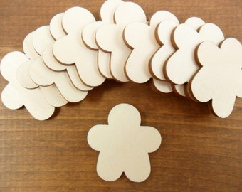 """25 Gingerbread Man 1 5/8"""" Unfinished Wood Shapes Cutouts"""