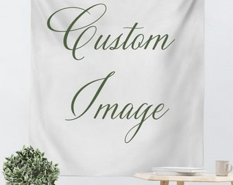 Custom Wall Hanging - Custom Tapestry - Made to Order - Photo Tapestry - Personalized - Custom Wall Tapestry - Vertical Tapestry