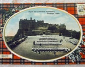Clan SCOTT antique postcard Argyle and Sutherland Highlanders Edinburgh Castle