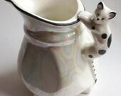 vintage ceramic cat pitcher