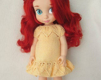 Yellow KnittedDress for Disney Animator Doll