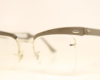 Unique Aluminum Clear Lens cat eye glasses retro vintage