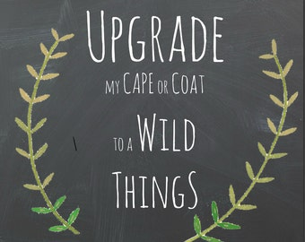 Upgrade to WILD THINGS Cape or Coat pattern