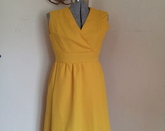 Vintage Mustard Yellow Mod Scooter Dress 1960's