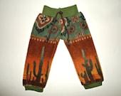 18 inch boy doll joggers pants American made girl boy clothes desert print cactus rust sage green waistband fleece