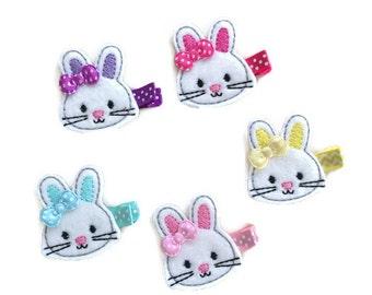 Bunny hair clip, baby hair clip, Easter hair clip, toddler hair clip, felt hair clip, baby accessory, easter bunny, rabbit hair clip